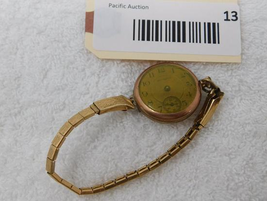 Hampden open face wrist watch
