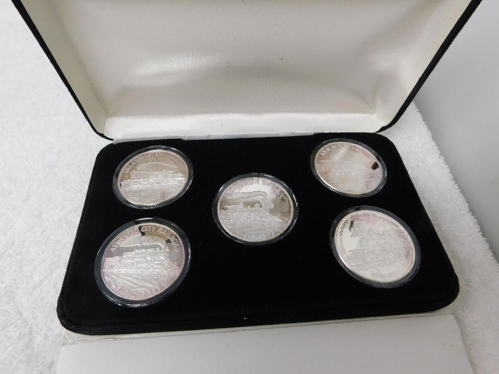 US Silver Train coin set