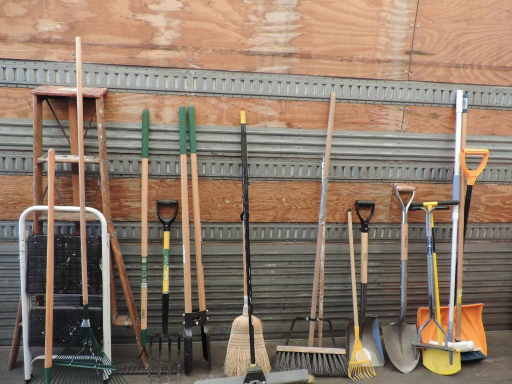 Huge assortment of garden and household tools.