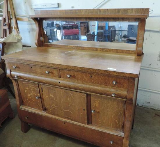 Antique Buffet With Mirror >> Antique Buffet With Mirror Auctions Online Proxibid
