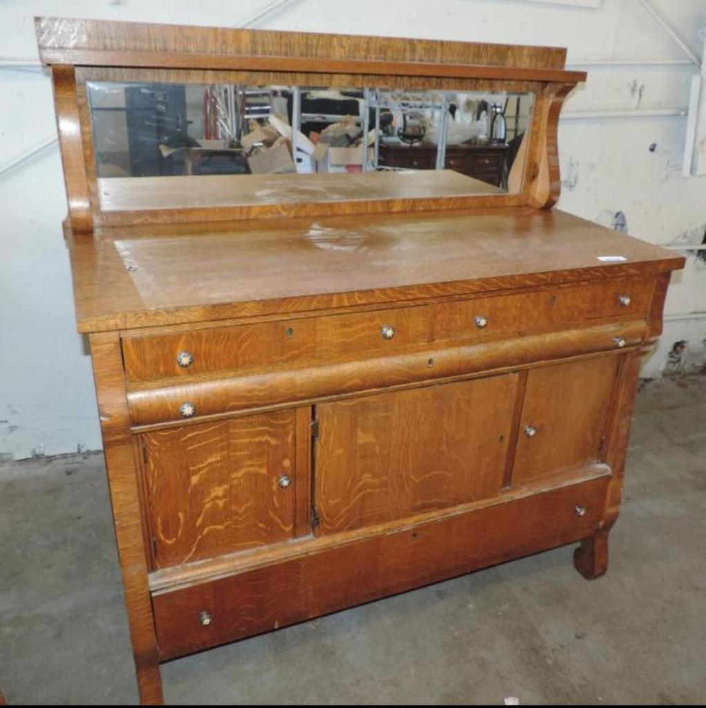 Antique Buffet With Mirror >> Lot Antique Buffet With Mirror Proxibid Auctions