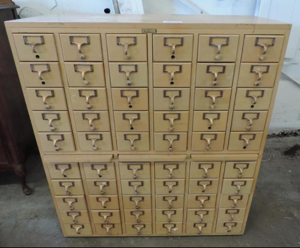 Unique Wooden Multi Drawer Cabinet (60 Drawers).