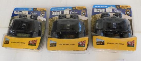 Three pair of Bushnell binocular