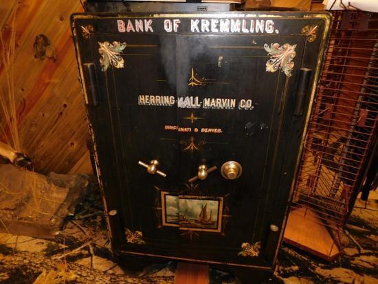 Amazing antique Bank of Kremmling Colorado safe