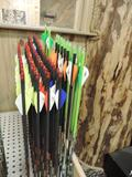 60 new Gold tip velocity 600 arrows, 6 kinetic hunter 400 and 12 name-the-game 300 arrows.