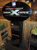 Carbon Force Radial Weave arrow display.