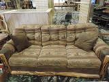 Aspen wood & upholstered elk couch.