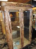 Gorgous aspen wood display cabinet.
