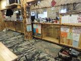 Exceptional 7 piece aspen wood store front display in excellent condition.