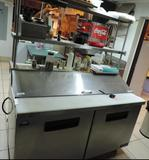 Blue Air model BAPT60 refrigerated serving station with NSF top shelf.