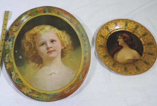 Gunnison and Denver CO metal advertising trays.
