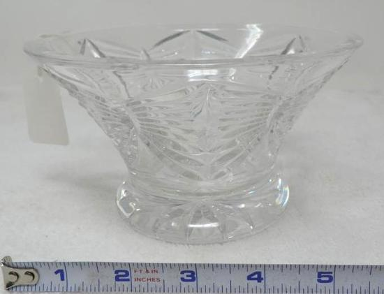"6"" Waterford heavy crystal bowl."