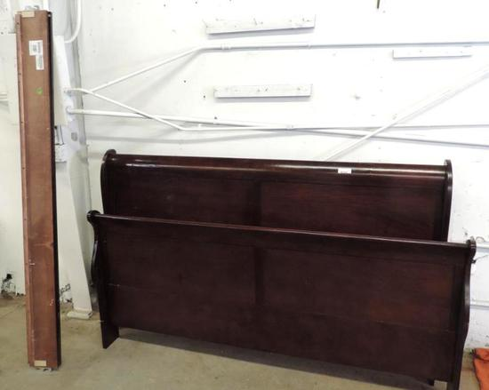 Ashley furniture king size sleigh bed with rails.