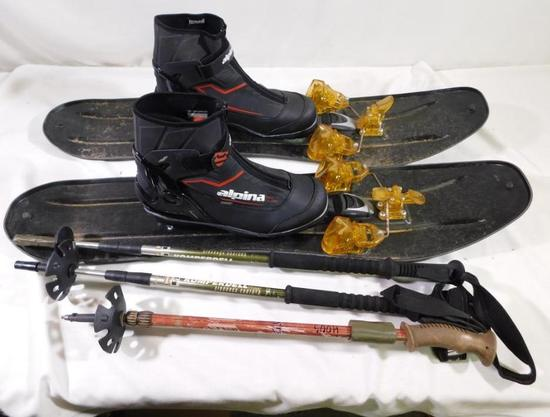Backcountry skis and boots