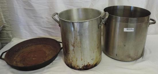 "14x14"" Centurion model 18/10 steel commercial pot and more."