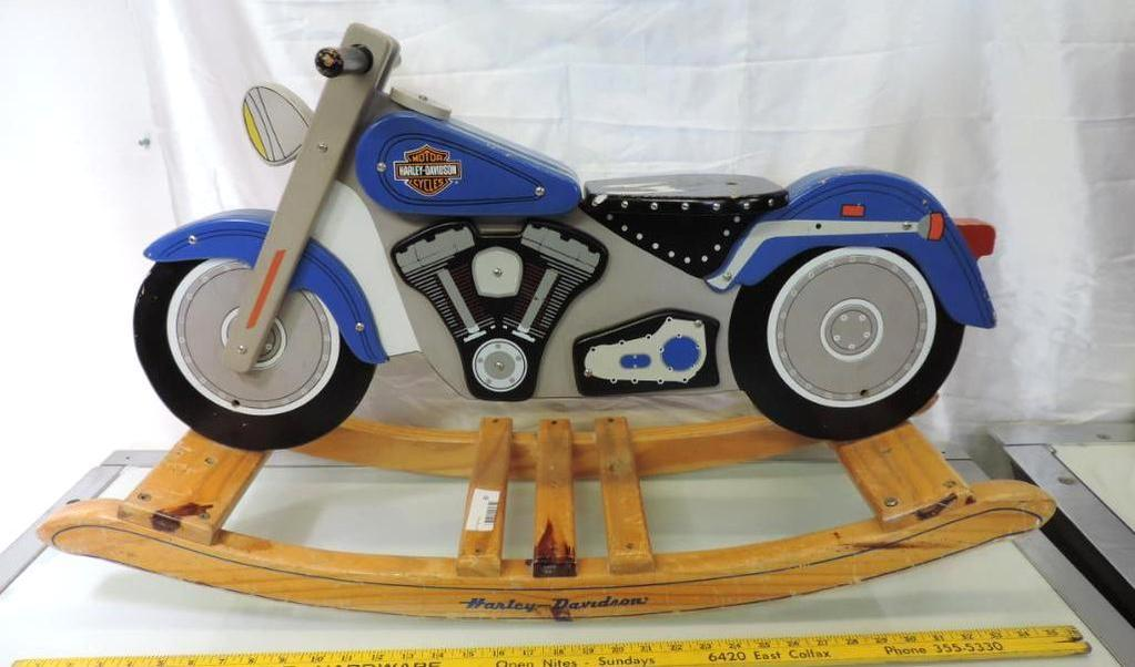 "36x20 12"" Harley Davidson Fatboy childs' rocking bike."