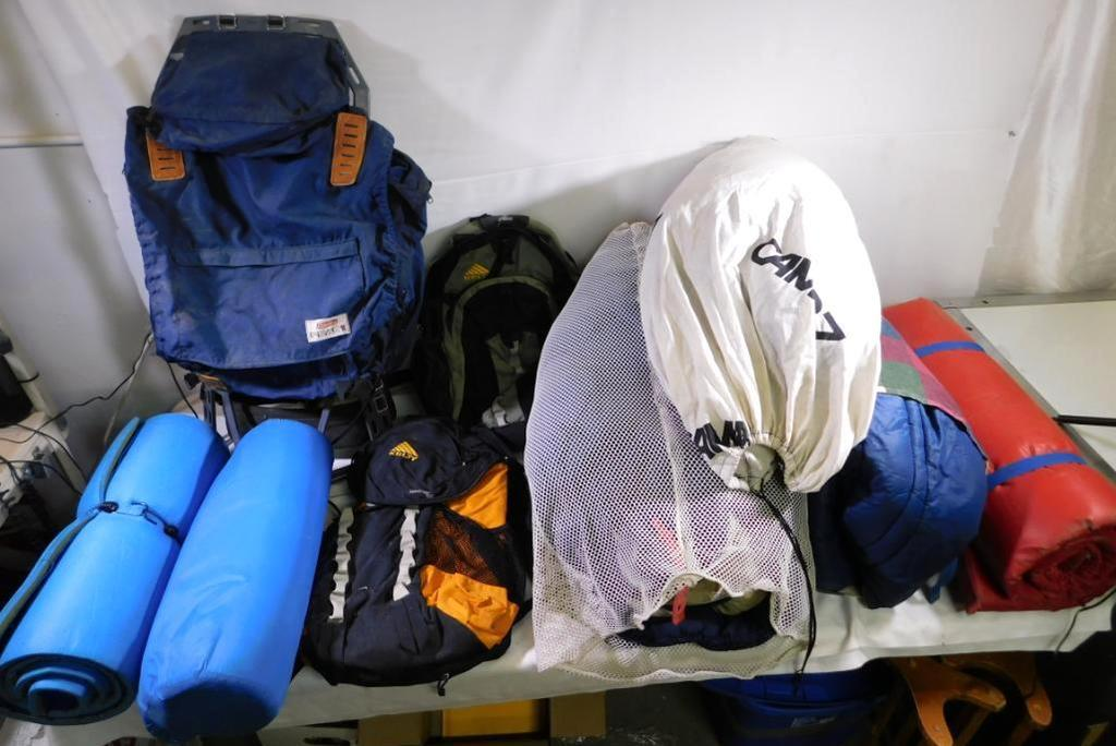 Camping backpacking assortment