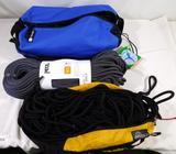 Petzl climbing ropes and bags