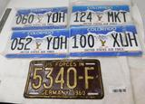 US Military License plates