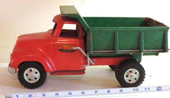 Tonka toy dump truck.