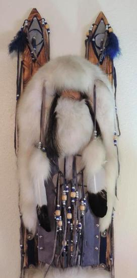 The plains Indian cradleboard by little hawk.