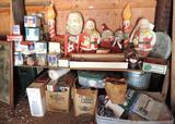 Massive lot of vintage Christmas items.