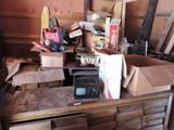 Contents of south side of barn.