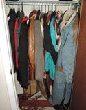 Contents of entry closet.