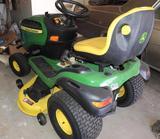 John Deere model E160 lawn tractor .