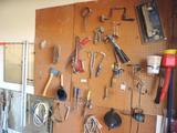 Contents of north garage wall pegboard.
