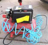 All- Power 1/3HP 3 gallon air compressor with hose and chuck (tested operable).