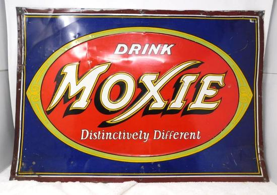 Original Drink Moxie Soft drink advertising tin sign