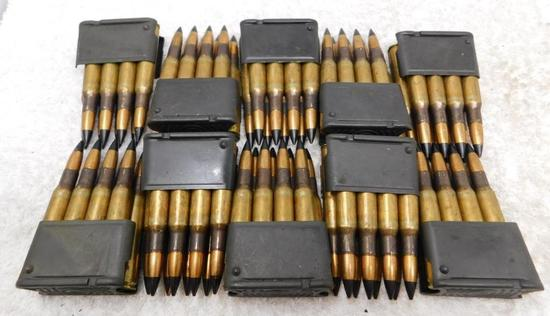 30-06 AP ammunition in M1 Garand en bloc clips
