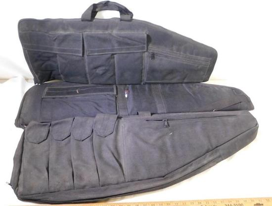 Black tactical rifle cases