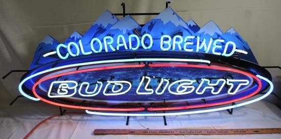 "55x24"" Colorado Brewed Bud Light Neon"
