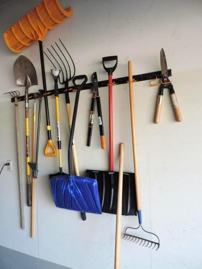Lawn tool assortment.