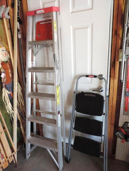 Davidson 6' ladder and Rubbermaid step ladder.
