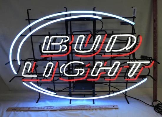 Bud Light neon sign.