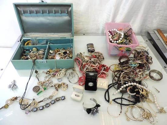 Huge assortment of estate jewelry.
