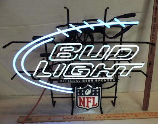 "27x23"" Bud Light NFL neon sign."