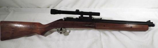 Sheridan Blue streak 5mm pellet rifle with Weaver D4 scope.
