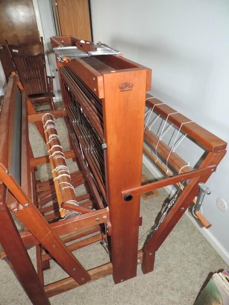 Lot: Schacht Spindle Low castle floor loom with accessories