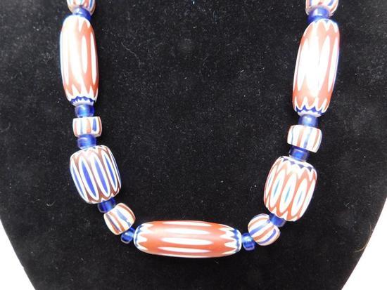 Rick Rice Venetian Glass trade bead necklace