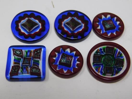Art Seymour glass bead slice collection