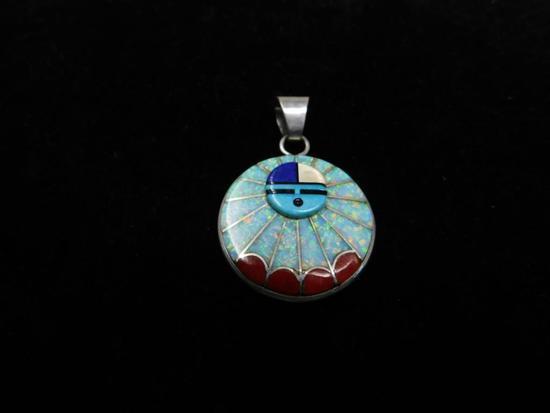Artist signed Zuni pendant