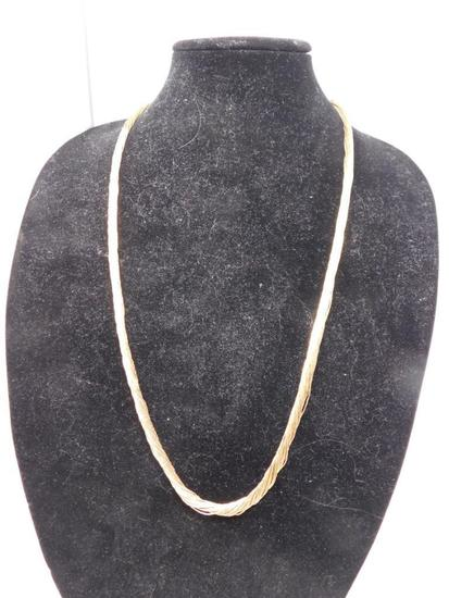 Liquid gold multi strand necklace