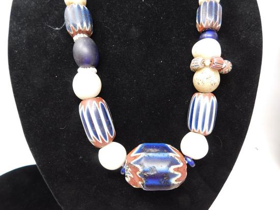 Original 1800's native chevron trade beads