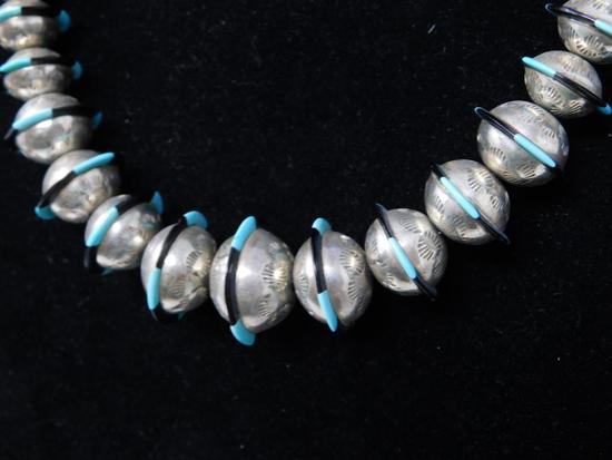 Very unique native Deco sphere necklace