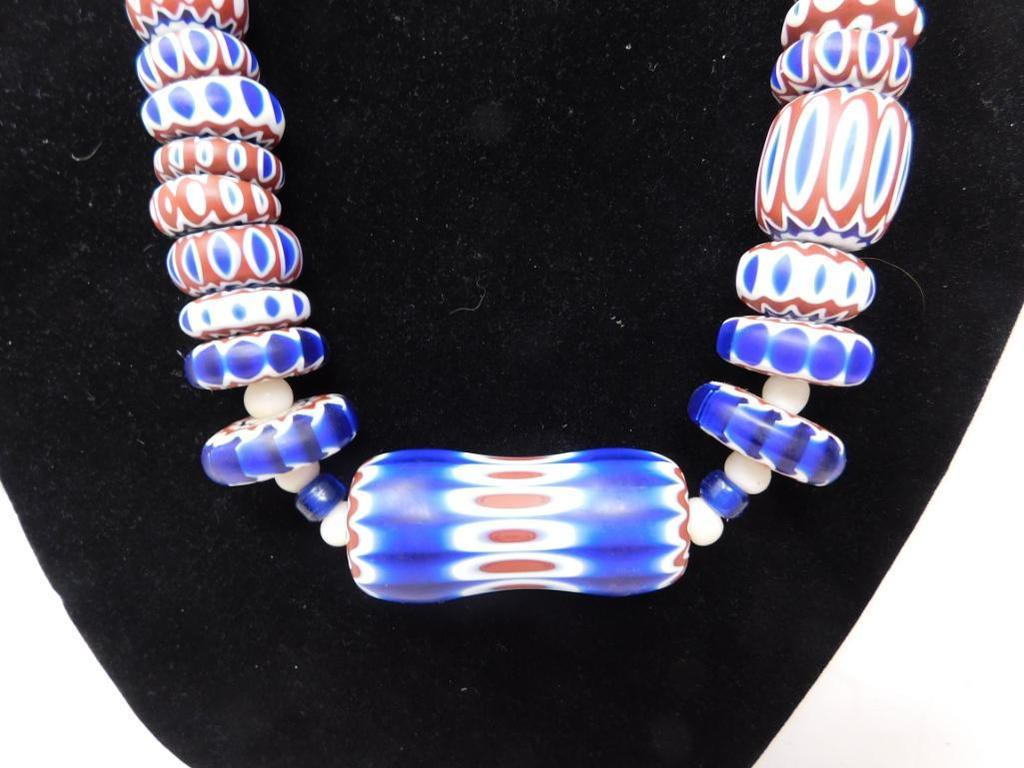 Rick Rice Venetian Glass trade bead necklace