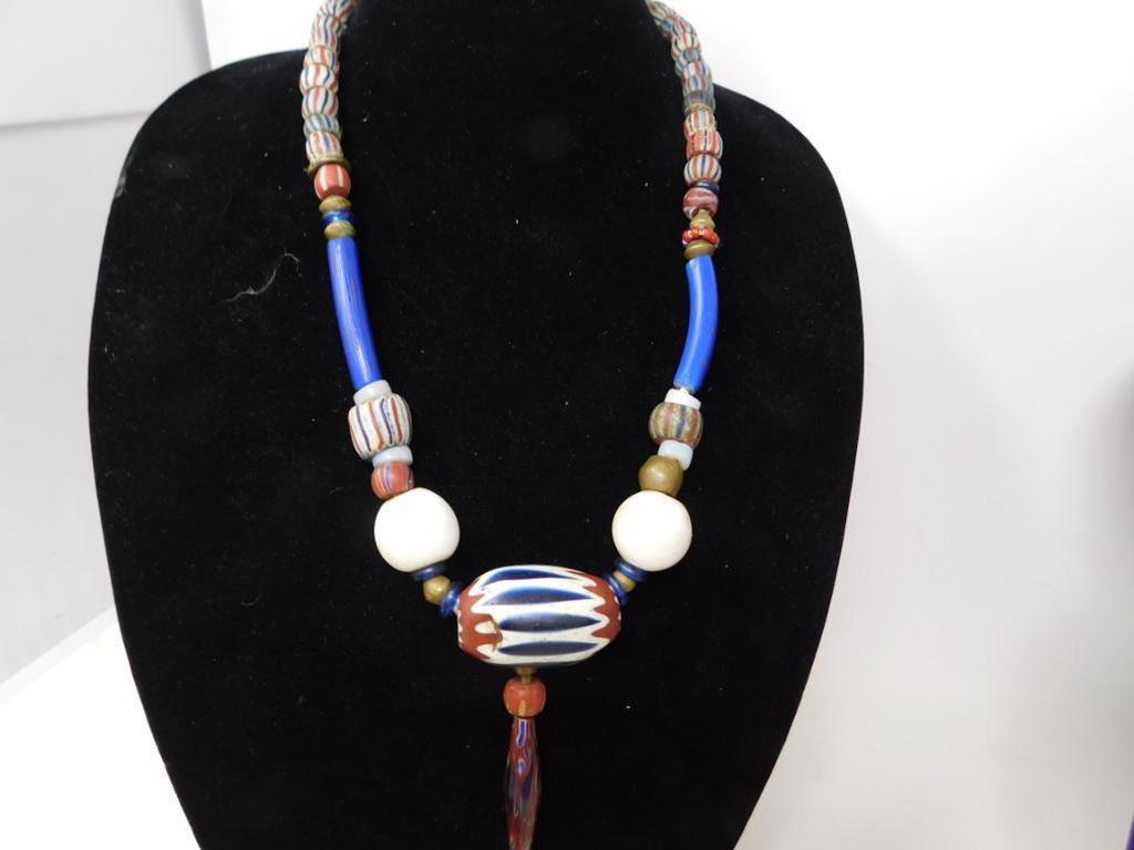 Original 1800's trade beads necklace